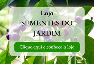 Loja Sementes do Jardim - Banner - Loja de Sementes